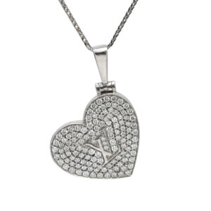 Louis Vuitton Diamond 18ct Gold Pendant Locket