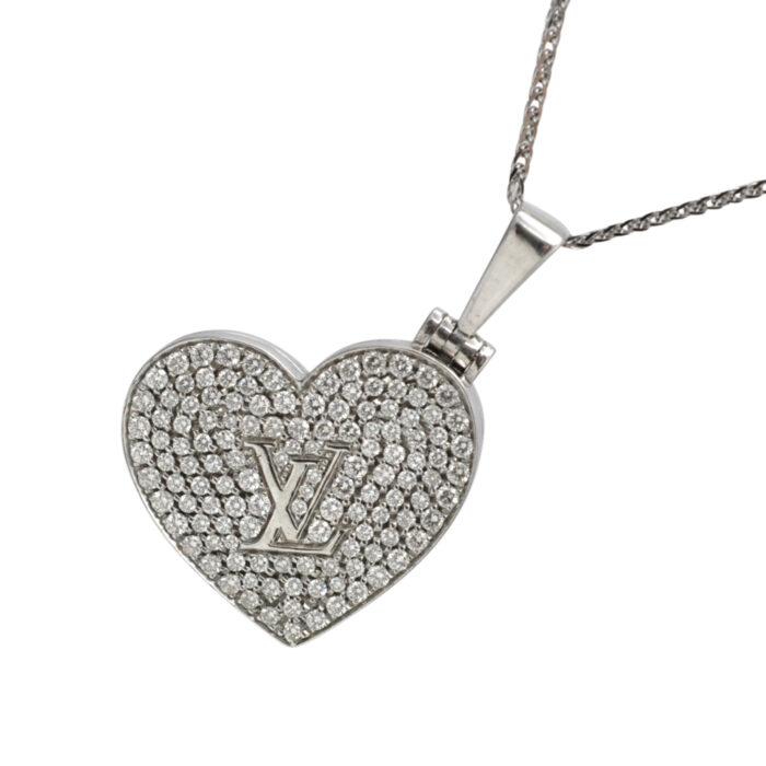 Louis Vuitton Diamond 18ct Gold Pendant Locket