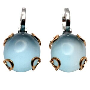 Chimento Cabochon Topaz 18ct Gold Earrings