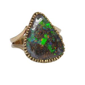 Boulder Opal 9ct Gold Dress Ring