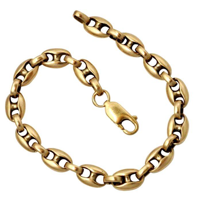 Marine Link 9ct Gold Bracelet
