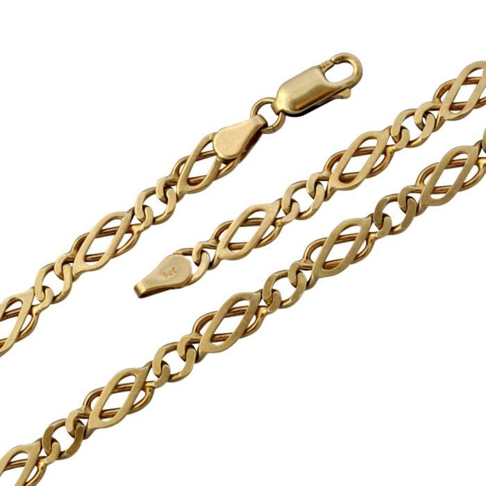 Vintage 9 Carat Gold Link Necklace