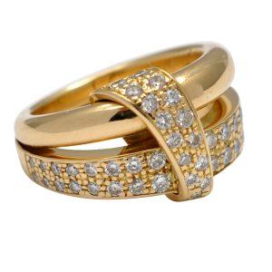 Asprey Diamond 18ct Gold Band Ring
