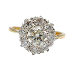 Diamond 18ct Gold Halo Engagement Ring