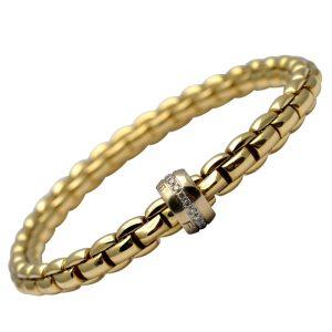 Fope Flex It 18ct Gold Diamond Eka Bracelet