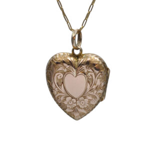 Antique Victorian Gold Locket and Chain