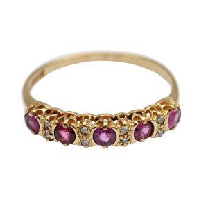 Pink Topaz Diamond Eternity Ring