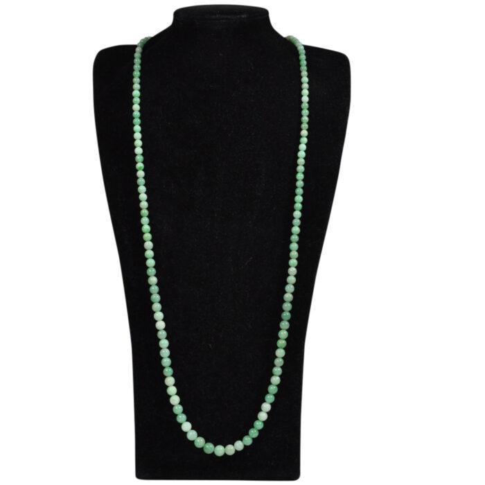 Antique Long Graduated Jade Necklace