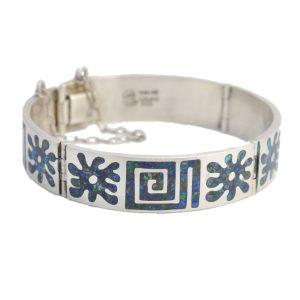 Vintage Mexican Sterling Silver Lapis Bracelet