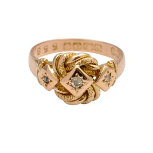 Edwardian Lovers Knot 18ct Gold Ring