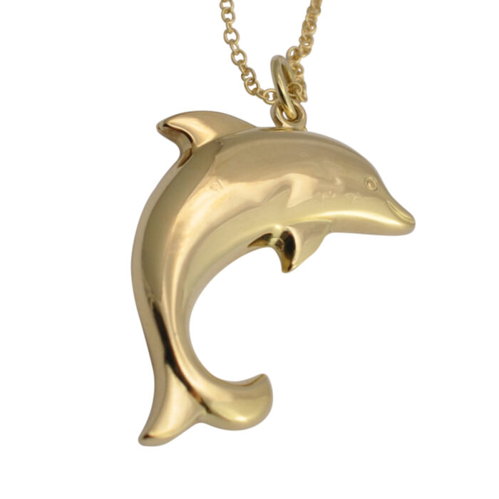 Dolphin 14 Carat Gold Pendant & Chain