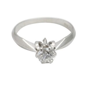 Vintage Diamond Solitaire 18ct Gold Engagement Ring