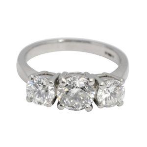 Diamond Trilogy Platinum Engagement Ring