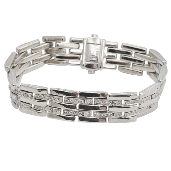 Vintage Chimento Diamond Gold Reversible Bracelet