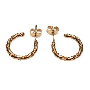 Vintage 9 Carat Gold Hoop Earrings