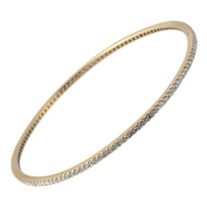 Vintage Diamond 18ct Gold Bangle