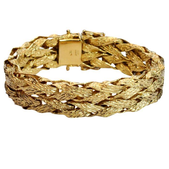 Vintage 18ct Textured Gold Bracelet