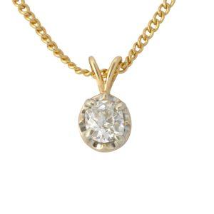Antique Diamond 0.60ct Solitaire Pendant