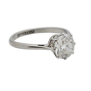 Art Deco 1.70ct Diamond Solitaire Engagement Ring