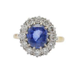 Certified Sri Lankan Sapphire 18ct Gold Ring