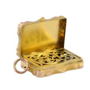 Antique Victorian 15ct Gold Vinaigrette