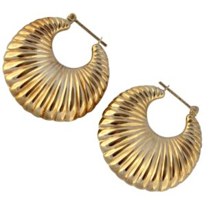 Vintage 9ct Gold Crescent Earrings