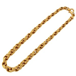 French 18ct Gold Graduated Necklace