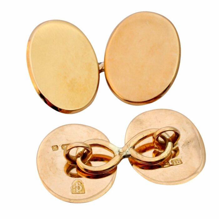 Antique 18ct Gold Gentlemans Cufflinks
