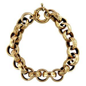 Large Antique Victorian 9ct Gold Bracelet