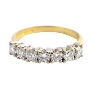 Diamond 18ct Gold Half Eternity Ring