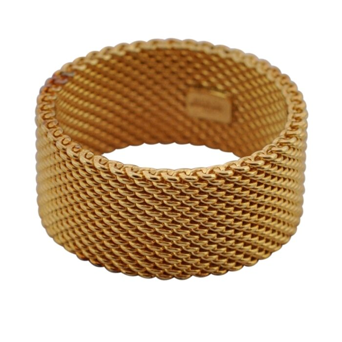 Tiffany Somerset 18ct Gold Wide Mesh Ring