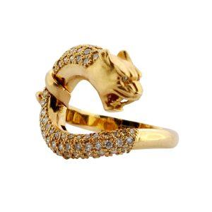 Diamond Gold Panther Ring