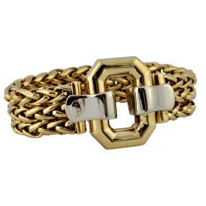 Italian 18ct Bi-Colour Gold Belt Bracelet
