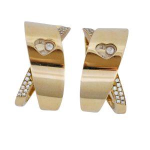 Chopard Happy Diamond 18ct Gold Earrings