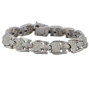 Mid Century Diamond Gold Bracelet