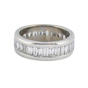 Baguette Diamond Gold Eternity Ring